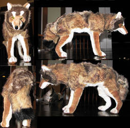 Realistic Iberian Wolf Plush by Jarahamee