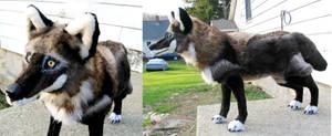 Large Black Plush Wolf 2 by Jarahamee