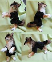 Black and brown werewolf plush toy! by Jarahamee