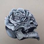skull rose morph by squirtleheart