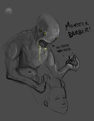 Monster Barber by KruddMan
