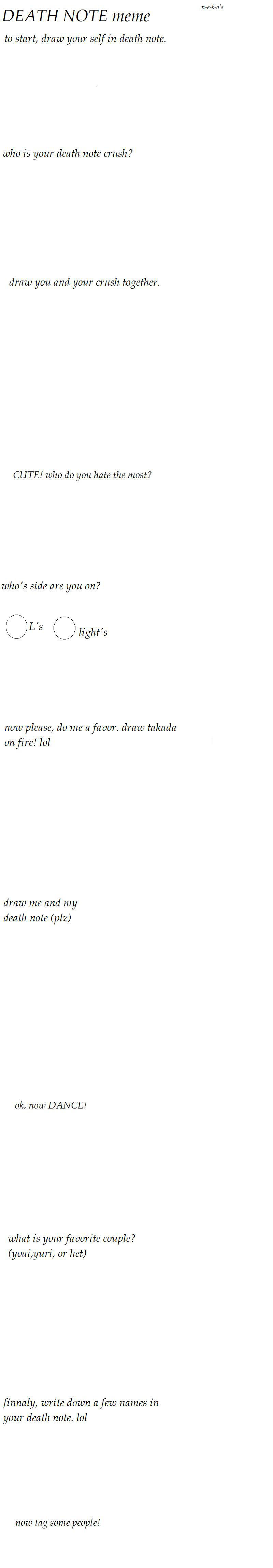 Death Note Meme Template By N E K O On Deviantart