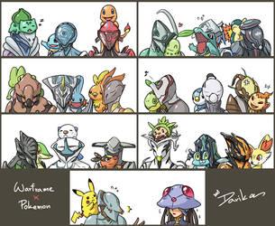 Warframe x Pokemon by DarikaArt