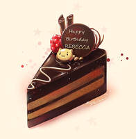 Chocolate Cake by DarikaArt