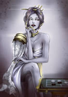 Lady Ballas - Warframe by DarikaArt