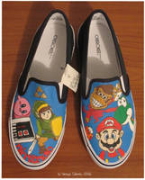 Nintendo shoes colored by vcallanta