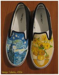Van Gogh shoes by vcallanta