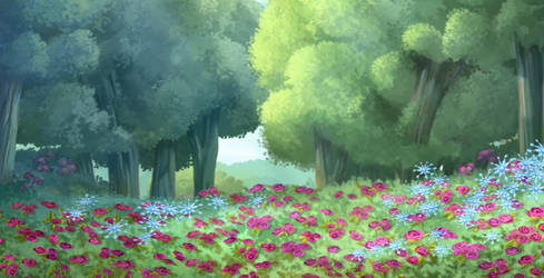 Forest of Flowers 3 by SparxGuardian