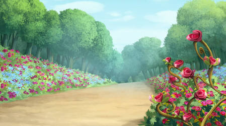Forest of Flowers 4 by SparxGuardian