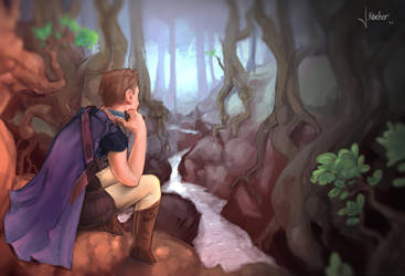 resting in a magic forest by JanKaercher