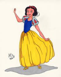 Disney Snow White Floofy Skirt by NinjaObsessed