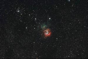 Trifide nebula by redkojimax