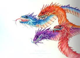 Rainbow Wyrms by Rosakaz
