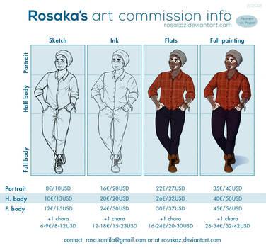 Commission info - OPEN! by Rosakaz