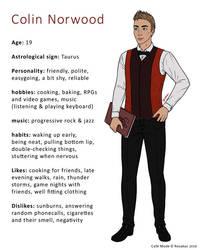 Character info: Colin by Rosakaz