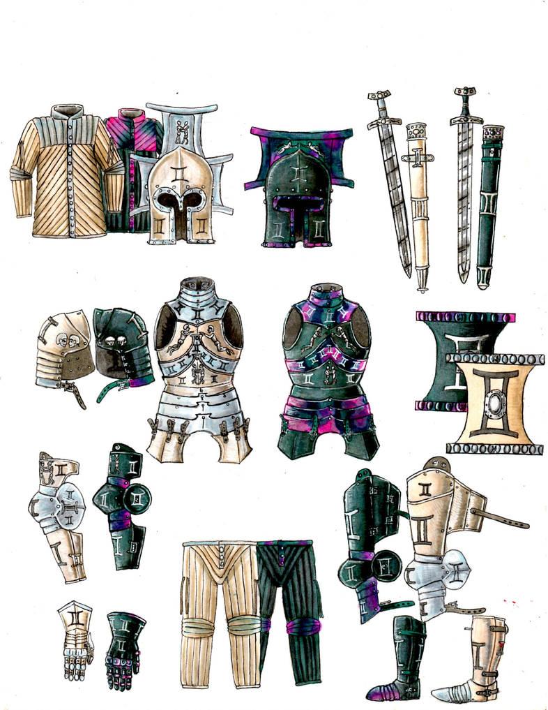 Zodiac Armour: Gemini by tod309