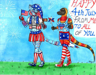 4th of July with Zephy and Daria by tod309
