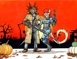 Reptile House: Halloween with the cast by tod309