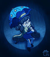 Hat Kid in the Rain by EndangeredCDs