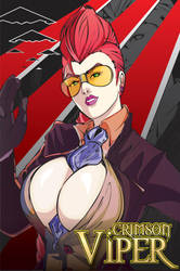 Crimson Viper Coloured by Metal-Bird