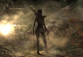 Lara Croft Creasitedesign Back by creasitedesign