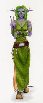 Lotimara - Night Elf Priestess by rissdemeanour