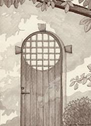 Hobbit Door by rissdemeanour