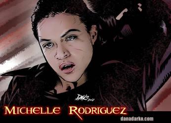 Michelle Rodriguez 2012 by DanaNovaDarko