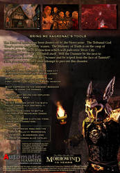 Elder Scrolls III Keening Box Back Cover by DanaNovaDarko