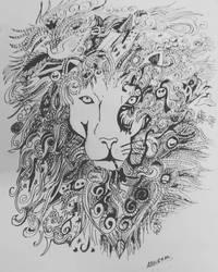 Doodle Lion by Abhir4m