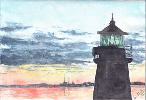 Dun Laoghaire lighthouse (Ireland) by IllusoryLove