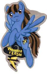 Bronycon badge for Thunder Flash by jenkiwi