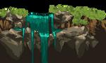 waterfall pixel art :o by Allaze-eroler