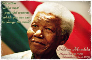 Nelson Mandela R.I.P. by Quadraro