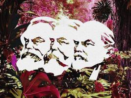 Marx - Engels - Lenin by Quadraro