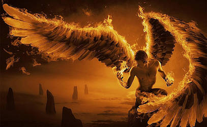 Nephilim on Fire by Quadraro