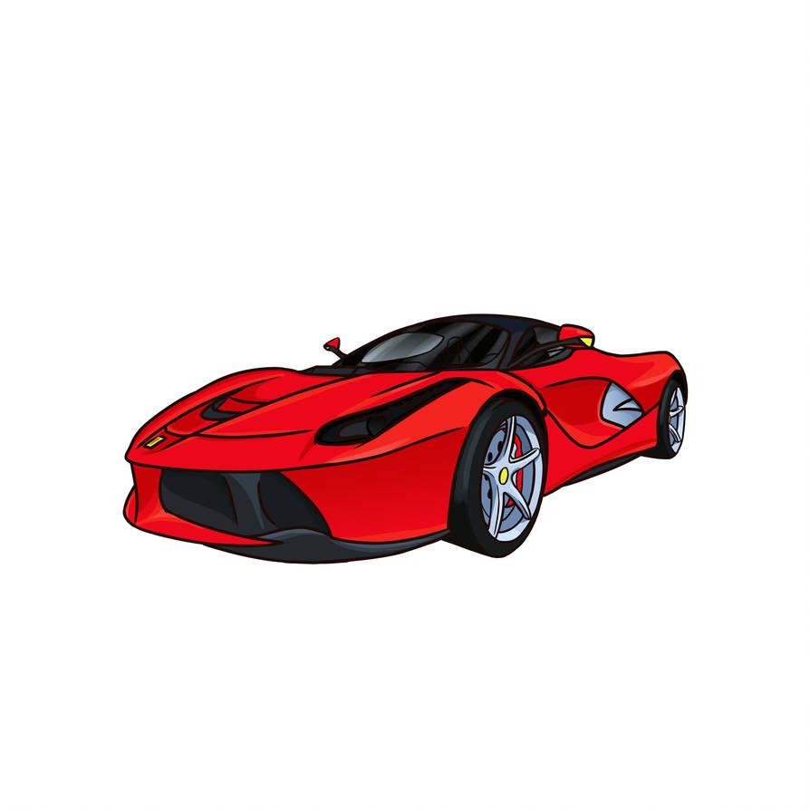 Ferrari Laferrari cartoonish by MentalOni