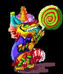 Pixel Trickster Foxy by Kam-Fox