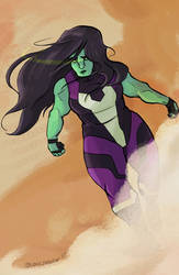 She Hulk by guavajagular