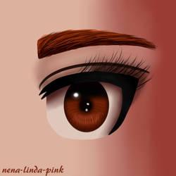 Semi Realistic Eye Practice by nena-linda-pink