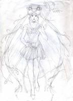 Sailor Cosmos Sketch by Yamigirl21