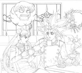 Usagi and Yami: Holiday Shopping Rant WIP by Yamigirl21