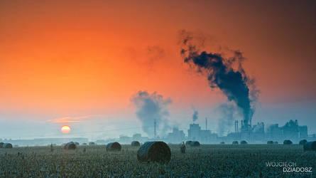 Industrial Sunrise by WojciechDziadosz