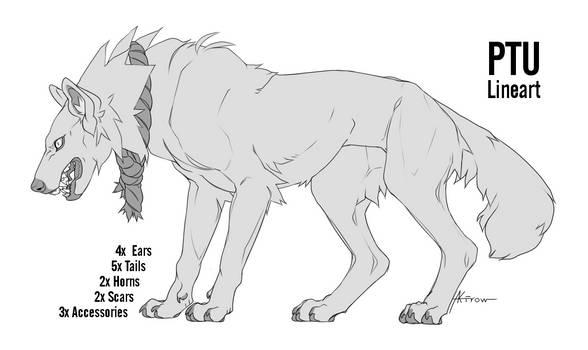 PTU Canine Lineart by Akirow