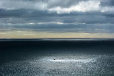 Little Boat Big Ocean by isischneider