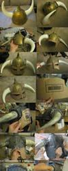Skyrim Helmet Progress by thegadgetfish