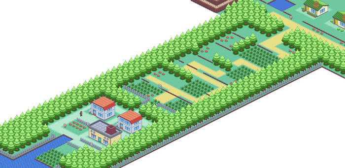 Pallet Town and Route 1 by Legacy0