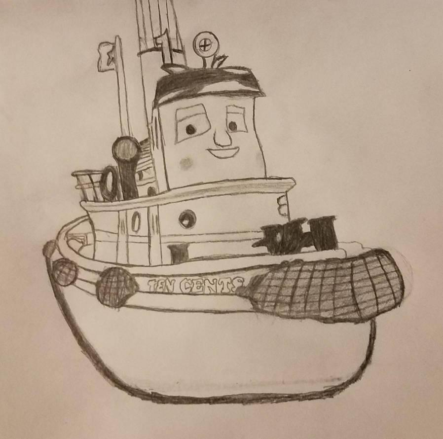 Ten Cents - Rough Sketch Drawing by SamTheThomasFan3