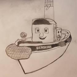 Sunshine - Rough Sketch Drawing by SamTheThomasFan3