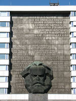 Monumental Bust of Karl Marx 1 by bitstarr